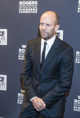 arts culture and entertainment: LAS VEGAS - APRIL 22 : Actor Jason Statham attends the Pioneer Dinner during 2015 CinemaCon on April 22 , 2015 at Caesars Palace in Las Vegas, Nevada Editorial