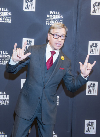 arts culture and entertainment: LAS VEGAS - APRIL 22 : Director Paul Feig attends the Pioneer Dinner during 2015 CinemaCon on April 22 , 2015 at Caesars Palace in Las Vegas, Nevada