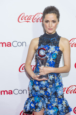 arts culture and entertainment: LAS VEGAS - APR 23 : Actress Rose Byrne, winner of CinemaCons Female Star of the Year award, attends the 2015 Big Screen Achievement Awards during 2015 CinemaCon in Las Vegas,
