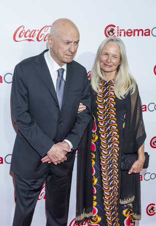 LAS VEGAS - APR 23 : Actor Alan Arkin (L), winner of CinemaCons Lifetime Achievement award, and his wife, attends the 2015 Big Screen Achievement Awards on April 23 2015 in Las Vegas , NV.