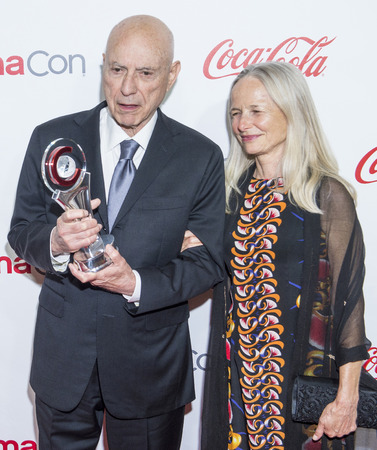 alan: LAS VEGAS - APR 23 : Actor Alan Arkin (L), winner of CinemaCons Lifetime Achievement award, and his wife, attends the 2015 Big Screen Achievement Awards on April 23 2015 in Las Vegas , NV.