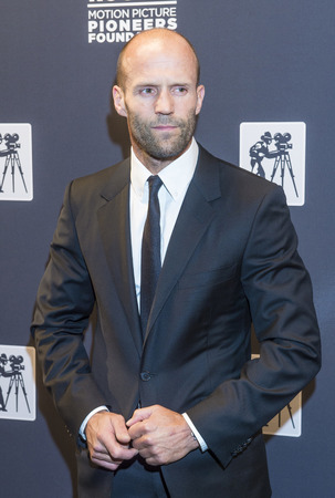 caesars palace: LAS VEGAS - APRIL 22 : Actor Jason Statham attends the Pioneer Dinner during 2015 CinemaCon on April 22 , 2015 at Caesars Palace in Las Vegas, Nevada Editorial