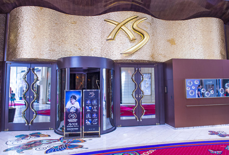 discoteque: LAS VEGAS - APR 23 : The XS Night club in Encore hotel in Las Vegas on April 23 2015. The XS  named the number one nightclub in the United States by Nightclub & Bar's Top 100.