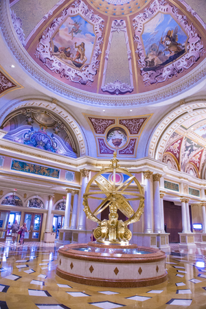 LAS VEGAS - APR 23 : The interior of the Venetian hotel & Casino in Las Vegas on April 23, 2015. With more than 4000 suites its one of the most famous hotels in the world.