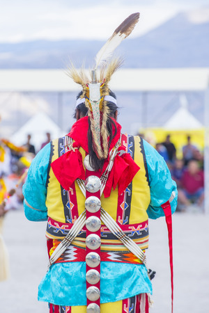 pow wow: LAS VEGAS - MAY 24 : Native American man takes part at the 26th Annual Paiute Tribe Pow Wow on May 24 , 2015 in Las Vegas Nevada. Pow wow is native American cultural gathernig event.
