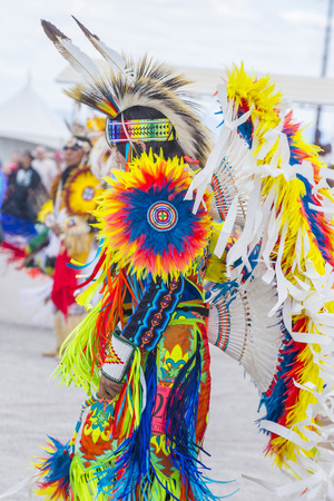 paiute: LAS VEGAS - MAY 24 : Native American man takes part at the 26th Annual Paiute Tribe Pow Wow on May 24 , 2015 in Las Vegas Nevada. Pow wow is native American cultural gathernig event.