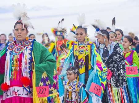 pow: LAS VEGAS - MAY 24 : Native American women takes part at the 26th Annual Paiute Tribe Pow Wow on May 24 , 2015 in Las Vegas Nevada. Pow wow is native American cultural gathernig event.