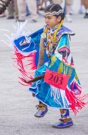 native american girl: LAS VEGAS - MAY 24 : Native American girl takes part at the 26th Annual Paiute Tribe Pow Wow on May 24 , 2015 in Las Vegas Nevada. Pow wow is native American cultural gathernig event.