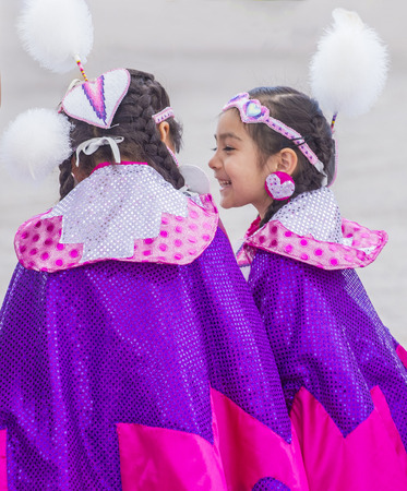 pow wow: LAS VEGAS - MAY 24 : Native American girls takes part at the 26th Annual Paiute Tribe Pow Wow on May 24 , 2015 in Las Vegas Nevada. Pow wow is native American cultural gathernig event.