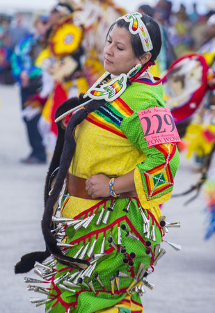 pow wow: LAS VEGAS - MAY 24 : Native American woman takes part at the 26th Annual Paiute Tribe Pow Wow on May 24 , 2015 in Las Vegas Nevada. Pow wow is native American cultural gathernig event.