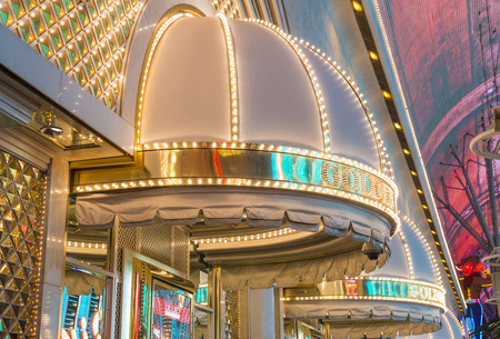 nugget: LAS VEGAS - MAY 17 : The Golden Nugget hotel and casino in downtown Las Vegas on May 17, 2015. Golden Nugget is the largest hotel in the downtown area, with a total of 2,345 rooms.