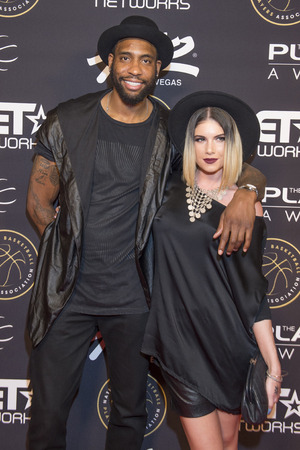 leah: LAS VEGAS - JULY 19 : Singer Leah LaBelle (R) and NBA player Rasual Butler attend The Players Awards at the Rio Hotel & Casino on July 19, 2015 in Las Vegas, Nevada Editorial