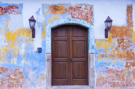 architectural heritage of the world: ANTIGUA , GUATEMALA - JULY 30 : Architectural details in Antigua Guatemala on July 30 2015. The historic city Antigua is UNESCO World Heritage Site since 1979. Editorial