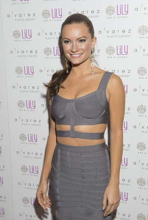 bar lounge: LAS VEGAS - JULY 17 : Model Caitlin OConnor attends a party for Alvarez Plastic Surgery at Lily Bar & Lounge at the Bellagio hotel in Las Vegas, Nevada on July 17 2015.