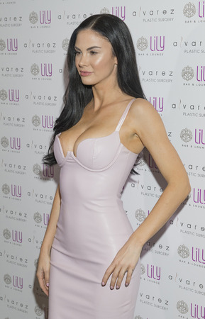 bar lounge: LAS VEGAS - JULY 17 : Model and television personality Jayde Nicole attends a party for Alvarez Plastic Surgery at Lily Bar & Lounge at the Bellagio hotel in Las Vegas, Nevada on July 17 2015. Editorial