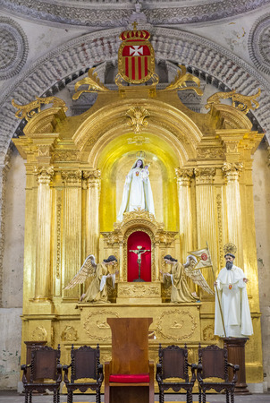 merced: ANTIGUA , GUATEMALA - JULY 30 : The interior of La Merced church in Antigua , Guatemala. on July 30 2015 La Merced was originally built in 1548.