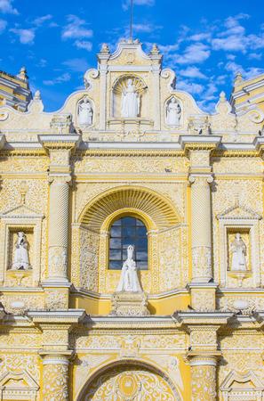 merced: ANTIGUA , GUATEMALA - JULY 30 : La Merced church in Antigua , Guatemala. on July 30 2015 La Merced was originally built in 1548.