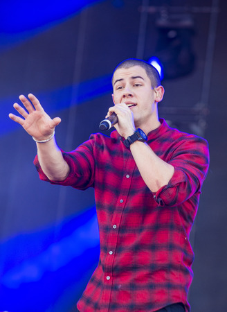 onstage: LAS VEGAS - SEP 19 : Singer Nick Jonas performs onstage at the 2015 iHeartRadio Music Festival at the Las Vegas Village on September 19, 2015 in Las Vegas, Nevada. Editorial