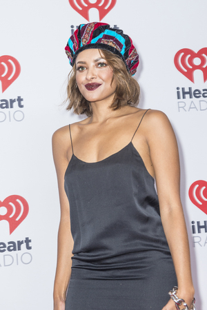 Graham: LAS VEGAS - SEP 19 : Actress Kat Graham attends the 2015 iHeartRadio Music Festival at MGM Grand Garden Arena on September 19, 2015 in Las Vegas, Nevada.