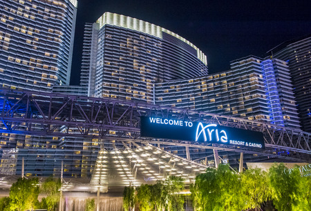 aria: LAS VEGAS - SEP 03 : The Aria Resort and Casino in Las Vegas on September 03 2015. The Aria is a luxury resort and casino opened on 2009 and is the worlds largest hotel to receive LEED Gold certification
