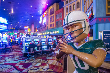 manhatan: LAS VEGAS - SEP 03 : The interior of New York-New York Hotel & Casino in Las Vegas on September 03 , 2015. This hotel simulates the real New York City street and It was opened in 1997.
