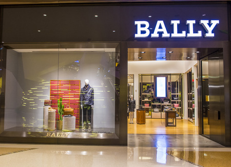 the existing: LAS VEGAS - SEP 03 : Exterior of a Bally store in Las Vegas strip on September 03 , 2015.  Bally is famous Swiss luxury brand existing since 1851.