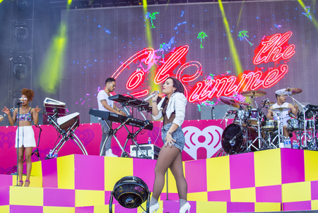 onstage: LAS VEGAS - SEP 19 : Recording artist Demi Lovato performs onstage at the 2015 iHeartRadio Music Festival at the Las Vegas Village on September 19, 2015 in Las Vegas, Nevada.
