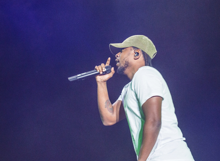 onstage: LAS VEGAS - SEP 27 : Recording artist Kendrick Lamar performs onstage during day 3 of the 2015 Life Is Beautiful Festival on September 27, 2015 in Las Vegas, Nevada. Editorial