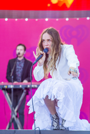 onstage: LAS VEGAS - SEP 19 : Singer Zella Day performs onstage at the 2015 iHeartRadio Music Festival at the Las Vegas Village on September 19, 2015 in Las Vegas, Nevada.