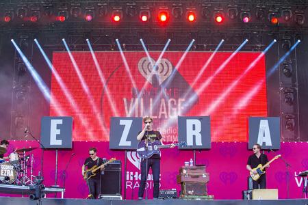 onstage: LAS VEGAS - SEP 19 : Singersongwriter George Ezra performs onstage at the 2015 iHeartRadio Music Festival at the Las Vegas Village on September 19, 2015 in Las Vegas, Nevada. Editorial