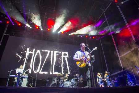 onstage: LAS VEGAS - SEP 25 : Singer Hozier performs onstage during day 1 of the 2015 Life Is Beautiful Festival on September 25, 2015 in Las Vegas, Nevada.