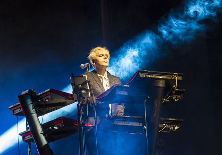 nick: LAS VEGAS - SEP 26 : Musician Nick Rhodes of Duran Duran performs onstage during day 2 of the 2015 Life Is Beautiful Festival on September 26, 2015 in Las Vegas, Nevada. Editorial