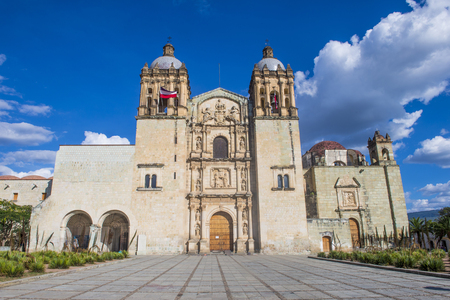order in: OAXACA , MEXICO - NOV 02 : The church of Santo Domingo de Guzman in Oaxaca , Mexico. on November 02 2015  the church was founded by the Dominican Order in 1570.