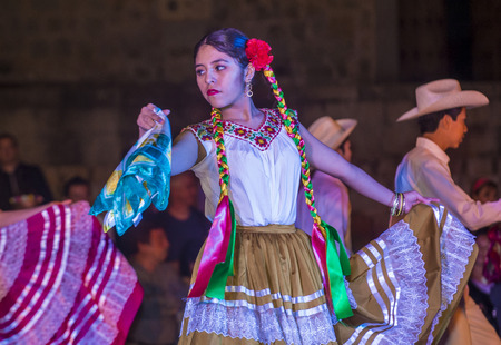 oaxaca: OAXACA , MEXICO - NOV 02 : Unidentified participants on a carnival of the Day of the Dead in Oaxaca, Mexico on November 02 2015. The Day of the Dead is one of the most popular holidays in Mexico Editorial