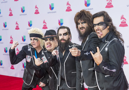 grammy: LAS VEGAS , NOV 19 : Music group Moderatto attends the 16th Annual Latin GRAMMY Awards on November 19 2015 at the MGM Grand Arena in Las Vegas, Nevada