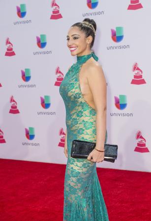 grammy: LAS VEGAS , NOV 19 : Recording artist Leslie Cartaya attends the 16th Annual Latin GRAMMY Awards on November 19 2015 at the MGM Grand Arena in Las Vegas, Nevada
