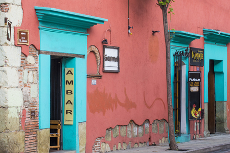 oaxaca: OAXACA , MEXICO - NOV 02 : Architectural details in Oaxaca Mexico on November 02 2015. Oaxaca, is the capital and largest city of the Mexican state of the same name.