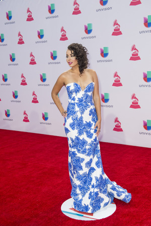 grammy: LAS VEGAS , NOV 19 : Singer Raquel Sofia attends the 16th Annual Latin GRAMMY Awards on November 19 2015 at the MGM Grand Arena in Las Vegas, Nevada Editorial