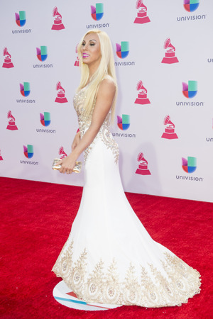 grammy: LAS VEGAS , NOV 19 : Actress Abigail Pereira attends the 16th Annual Latin GRAMMY Awards on November 19 2015 at the MGM Grand Arena in Las Vegas, Nevada