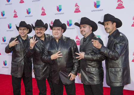 grammy: LAS VEGAS , NOV 19 : Musical group, Grupo Pesado attends the 16th Annual Latin GRAMMY Awards on November 19 2015 at the MGM Grand Arena in Las Vegas, Nevada Editorial