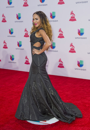 grammy: LAS VEGAS , NOV 19 : Singer MG attends the 16th Annual Latin GRAMMY Awards on November 19 2015 at the MGM Grand Arena in Las Vegas, Nevada