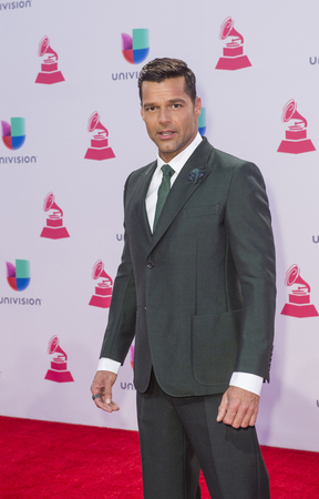 grammy: LAS VEGAS , NOV 19 : Singer Ricky Martin attends the 16th Annual Latin GRAMMY Awards on November 19 2015 at the MGM Grand Arena in Las Vegas, Nevada Editorial