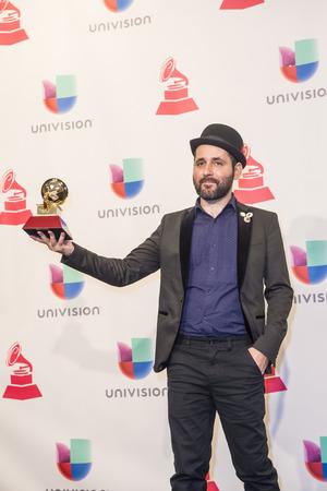 grammy: LAS VEGAS , NOV 19 : Marcelo Fontao, winner of Best Short Form Music Video, poses in the press room during the 16th Annual Latin GRAMMY Awards on NOVEMBER 19 2015 in Las Vegas, Nevada Editorial