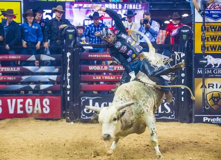 finals: LAS VEGAS - SEP 24 : Cowboy Participating in the PBR bull riding world finals. The bull riding world championship held in Las Vegas Nevada on October 24 2015