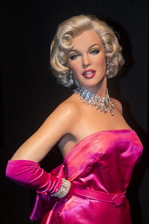 LAS VEGAS - 23 octobre: ??Un waxwork de Marilyn Monroe au musée Madame Tussauds à Las Vegas le 23 Octobre 2015, le musée de 30.000 pieds carrés sur deux étages a des répliques de cire 100-plus. Banque d'images - 52859080