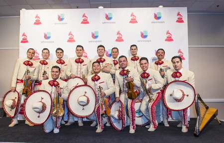 LAS VEGAS , NOV 19 : Members of Mariachi Sol De Mexico attend the 16th Annual Latin GRAMMY Awards on November 19 2015 at the MGM Grand Arena in Las Vegas, Nevada Editorial