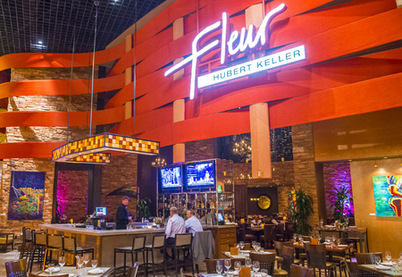 LAS VEGAS - Nov 17 : The Fleur by Hubert Keller restaurant in Mandalay Bay hotel in Las Vegas on November 17 2015. Hubert Keller was ranked as one of the 10 best chefs in America.