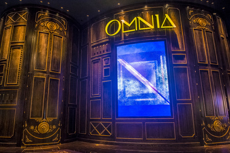 discoteque: LAS VEGAS - OCT 15 : The Omnia Night club in Ceasars palace hotel in Las Vegas on October 15 2015. The multi-leve , 75,000-square-foot venue opend in 2015
