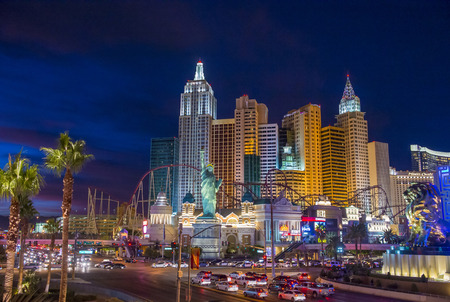 LAS VEGAS - NOV 17 : New York-New York Hotel & Casino in Las Vegas on November 17 2015 , This hotel simulates the real New York City skyline and It was opened in 1997. Editorial