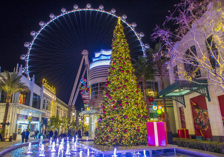 LAS VEGAS - DEC 18 : Winter parq at the Linq in Las Vegas on December 18 2015 , The Linq is dining and shopping district and High Roller at the center of the Las Vegas. Editorial
